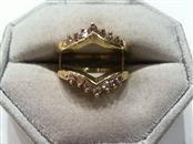 Lady's Gold-Diamond Ring Guard 14 Diamonds .66 Carat T.W. 14K Yellow Gold 5.6g